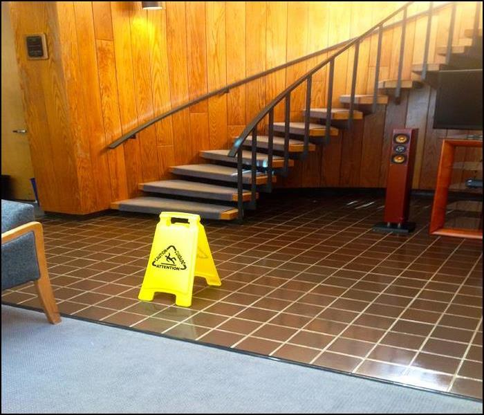 Cleanup and Dry-out of Commercial Office Floors after Heavy Rains Cause Roof Leaks, Wayne, NJ