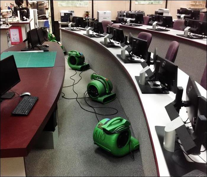 Commercial EMS Water Damage Dry-Out in Local School Computer Room, Sparta, NJ